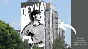 Kazimierz Deyna eko mural Warszawa Urysnów
