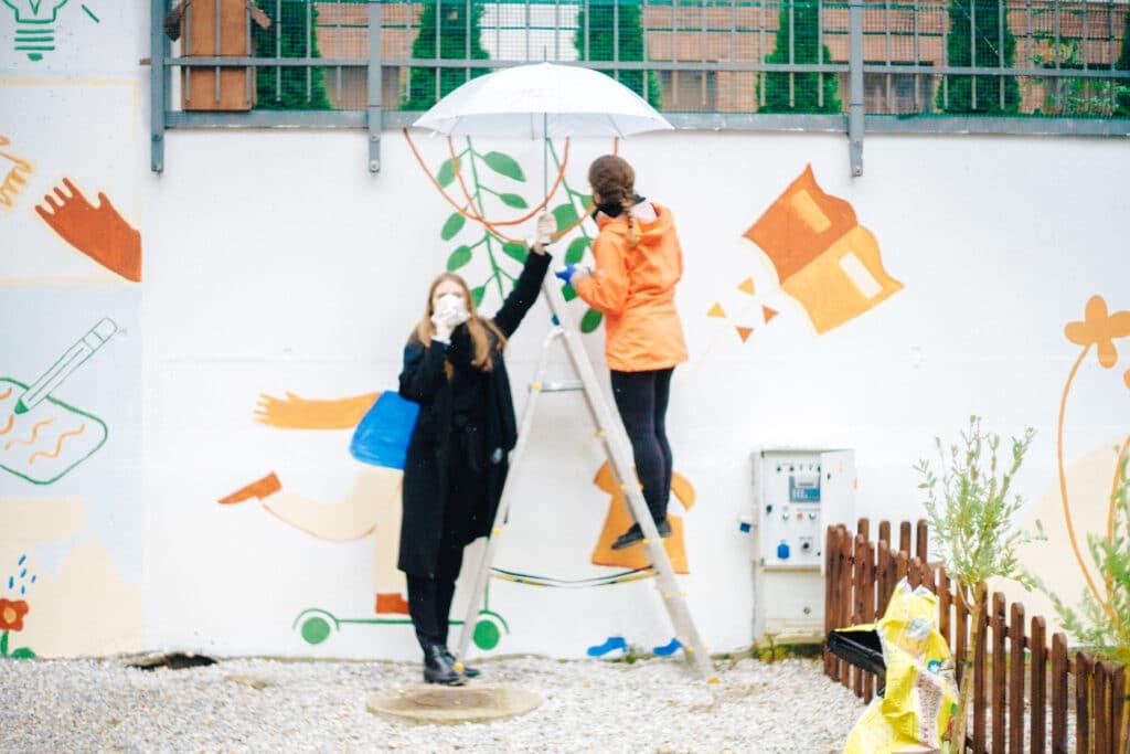 Eko mural Wrocław projekt Zielony Trójkąt