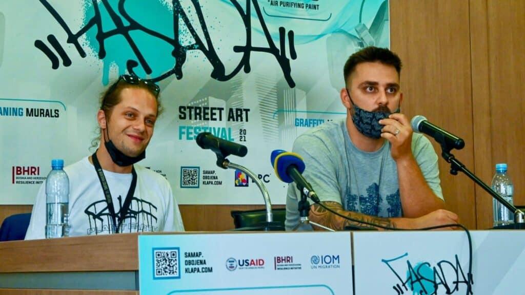 Festiwal Muralowy w Sarajewie Konferencja Prasowa