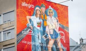 Allegro mural w Warszawie malowany farbami KNOxOUT