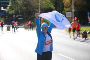 Katarzyna Domanska podczas Maratonu w zespole Sii Polska